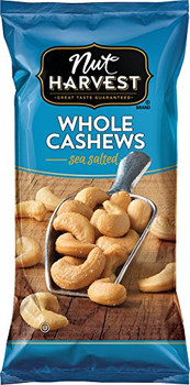 Nut Harvest Whole Cashews, Sea Salted, 2.5 Oz Bag (1 Count)