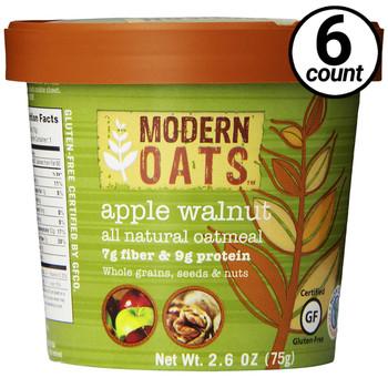 Modern Oats Apple Walnut Oatmeal 2.6 oz. cup (6 count)
