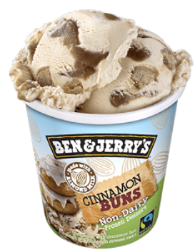 Ben & Jerry's Non Dairy Cinnamon Buns Ice Cream, Pint, (1 count)