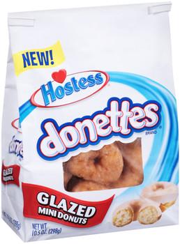 Hostess, Donettes Glazed Mini Donuts, 10.5 oz.
