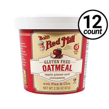 Bob's Red Mill, Apple Cinnamon Oatmeal, 2.36 oz. Cup (12 Count)