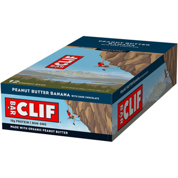 CLIF Bar Energy Bars, Peanut Butter  Banana, 2.4 oz. bar (12 count)