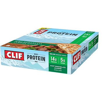 CLIF Whey Protein Bar, Mint Chocolate Almond, 1.98 oz, Bar (8 count)
