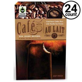 Cold Brew Coffee Ice Cream Bar, Au Lait, 3 Oz Bar (24 Count)