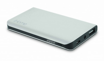 iHome,IH-PP2010AS, Portable Battery, Aluminum Ultra Slim Charge, 3,000mAh Battery, Silver Color (1 count)