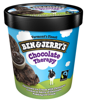 Ben & Jerry's, Chocolate Therapy Ice Cream, Pint (1 Count)