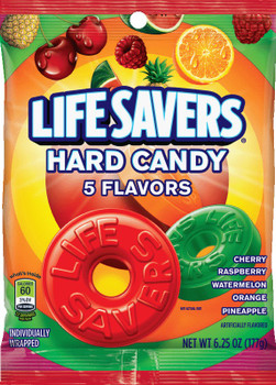 Life Savers, Five Flavor Hard Candy Peg Bag, 6.25 oz (1 count)