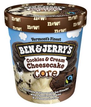 Ben & Jerry's, Cookie & Cream Cheesecake Core, Pint (1 Count)