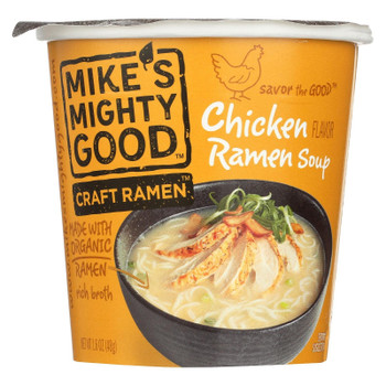 Mike's Mighty Good Chicken Organic Noodles Ramen, 1.6 oz cup (6 count)