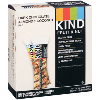 Kind Fruit & Nut Dark Chocolate Almond & Coconut, 1.4 oz (12 count)