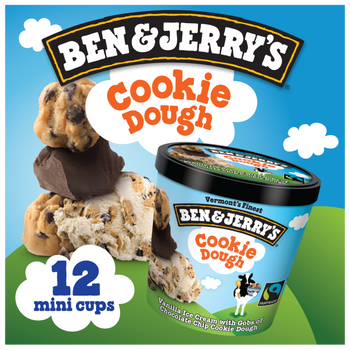 Ben & Jerry's, Chocolate Chip Cookie Dough Cups (12 Count)
