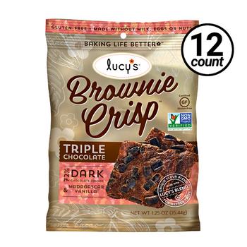 Lucy's Gluten Free Brownie Crisp, 1.25 oz (12 Count)