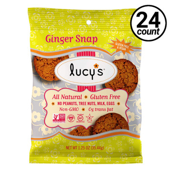 Lucy's Gluten Free Ginger Snap Cookie, 1.25 oz (24 Count)