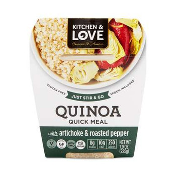 Kitchen & Love Quinoa Meal, Artichokes & Roasted Pepper, 7.9 oz cup (6 count)