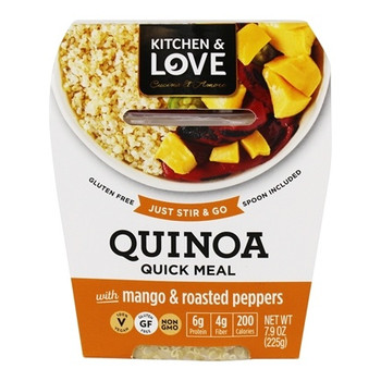 Kitchen & Love Quinoa Meal, Mangos & Roasted Pepper, 7.9 oz cup (6 count)