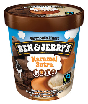 Ben & Jerry's, Karamel Sutra CORE Ice Cream, Pint (1 Count)