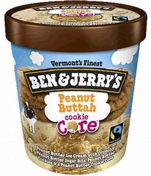 Ben & Jerry's, Peanut Buttah Cookie Core Ice Cream, Pint (1 Count)