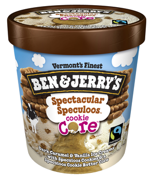 Ben & Jerry's, Spectacular Speculoos Cookie Core Ice Cream, Pint (1 Count)