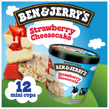 Ben & Jerry's, Strawberry Cheesecake Cups (12 Count)