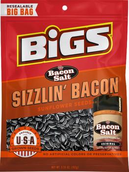 BIGS, Bacon Salt Sizzlin' Bacon Sunflower Seeds, 5.35 oz. Bag (1 Count)
