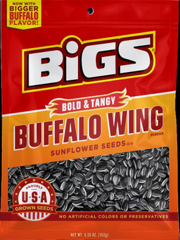 BIGS, Frank's Red Hot Buffalo Wing Sunflower Seeds, 5.35 oz. Bag (1 Count)