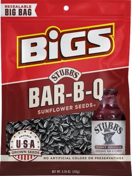 BIGS, Stubbs Smokey Sweet Bar-B-Q Sunflower Seeds, 5.35 oz. Bag (1 Count)