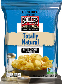 Boulder Canyon Natural Foods, Totally Natural Kettle Cooked Potato Chips, 2.0 oz. Bag (1 Count)