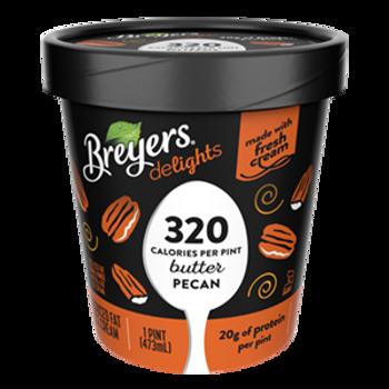 Breyers Delights, Low Fat Butter Pecan Ice Cream, Pint (1 Count)