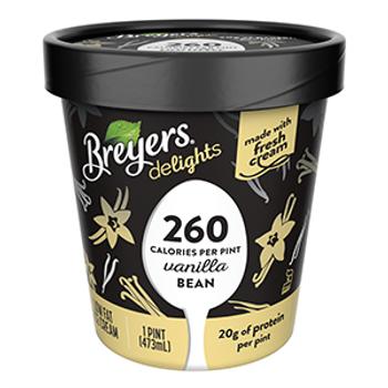 Breyers Delights, Low Fat Vanilla Bean Ice Cream, Pint, (1 Count)