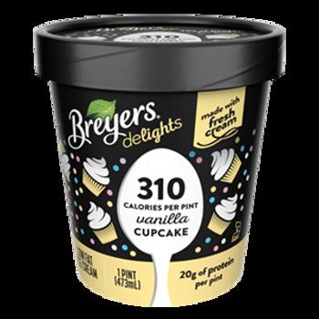 Breyers Delights, Low Fat Vanilla Cupcake Ice Cream, Pint (1 Count)