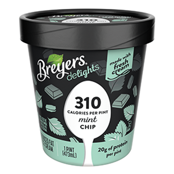 Breyers Delights, Reduced Fat Mint Chip Ice Cream, Pint, (1 Count)