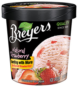 Breyer's, Strawberry All Natural, Ice Cream, Pint (1 Count)