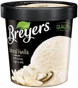 Breyer's, Vanilla All Natural, Ice Cream, Pint (1 Count)