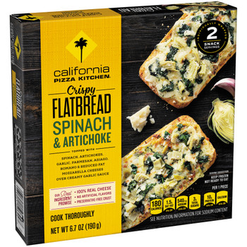 California Pizza Kitchen, Spinach & Artichoke, Crispy Flatbread, 6.7 oz. (1 Count)