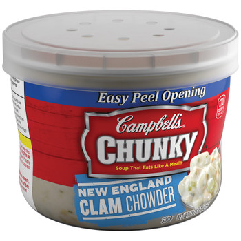 Campbell's, Chunky New England Clam Chowder, 15.25 oz. Microwavable Bowl (1 Count)