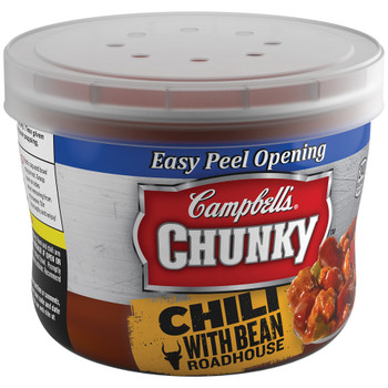 Campbell's, Chunky Chili, Roadhouse Beef & Bean, 15.25 oz. Microwavable Bowl (1 Count)