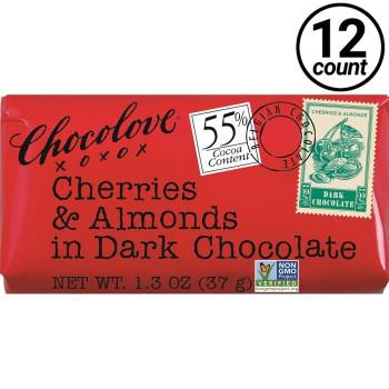 Chocolove Mini, Dark Chocolate Cherry Almond, 1.3 oz. (12 Count)
