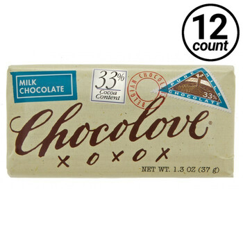 Chocolove Mini, Milk Chocolate, 1.3 oz. (12 Count)