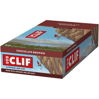 CLIF Bar, Chocolate Brownie, 2.4 oz. (12 Count)
