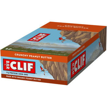 CLIF Bar, Crunchy Peanut Butter, 2.4 oz. (12 Count)