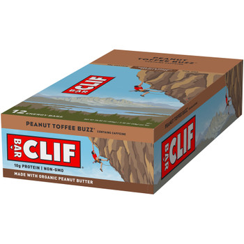 CLIF Bar, Peanut Toffee Buzz with Caffeine, 2.4 oz. (12 Count)