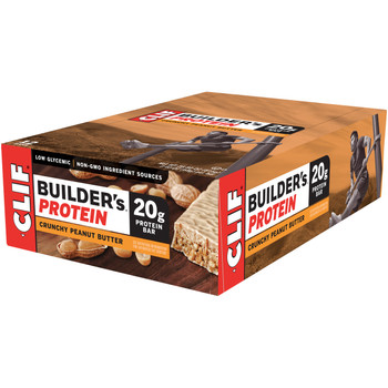 CLIF Builders, Protein Bars, Crunchy Peanut Butter, 2.4 oz. Bars (12 Count)