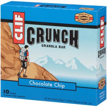 CLIF CRUNCH, Granola Bar, Chocolate Chip, 1.5 oz. Bars (5 Count)