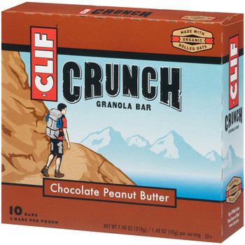 CLIF CRUNCH, Granola Bar, Chocolate Peanut Butter, 1.5 oz. Bars (5 Count)