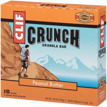 CLIF CRUNCH, Granola Bar, Peanut Butter, 1.5 oz. Bars (5 Count)