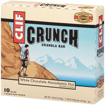 CLIF CRUNCH, Granola Bar, White Chocolate Macadamia Nut, 1.5 oz. Bars (5 Count)