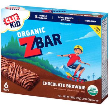 CLIF kid Z-Bar, Organic Chocolate Brownie, 1.27 oz. Bars (18 Count)