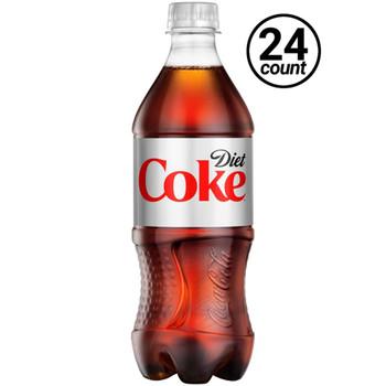 Coca Cola, Diet Coke, 20 oz. Bottles ( 24 Count Case)