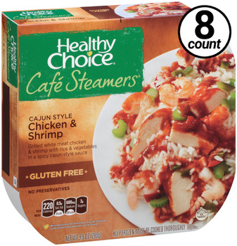 Conagra, Healthy Choice Cafe Steamers, Cajun Style Chicken and Shrimp, 9.9 oz. Entree (8 Count)