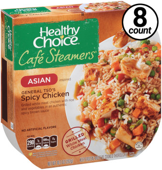 Conagra, Healthy Choice Cafe Steamers, General Tso's Spicy Chicken, 10.3 oz. Microwavable Entree (8 Count)